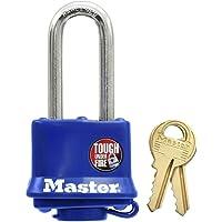 Master Lock, 312EURDLH, gordijnslot, met thermoplast coating en hoge beugel