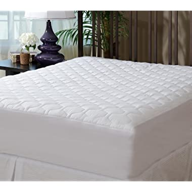 THE GRAND - Mattress Pad Cover - Fitted - Quilted - Queen (60 x80 ) - Stretches to 18  Deep!