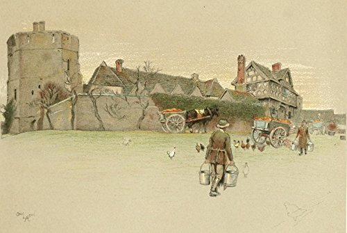 Stokesay Castle (Old Manor Houses 1920 Stokesay Castle Shropshire 1 Poster Print by Cecil Aldin (18 x 24))