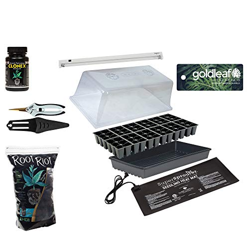 Ultimate Seed Starting & Cloning Propagation Kit w/Heat Mat, T5 Light, Humidity Dome, Clonex, Root Riot +