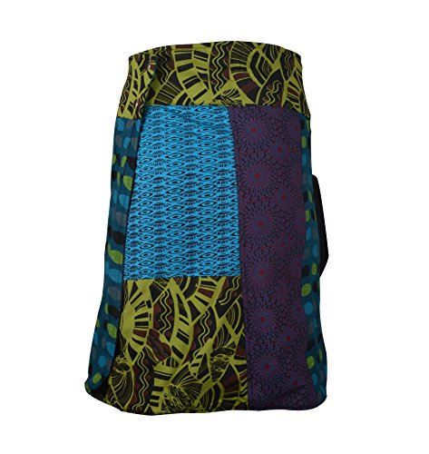Blau Mode TATTOPANI Multicolor Side Wrap Round Hippy Jupe Femmes Popper Und Rversible Grn deux qAxqn8gOH