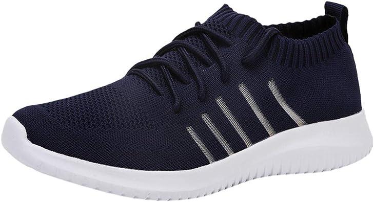 Sencillo Vida Zapatillas de Deporte Unisex Adulto Zapatillas de Running para Hombre Zapatos de Seguridad Transpirables Sneakers Casuales Vestir Zapatos Deportivas Cordones para Correr Gimnasio: Amazon.es: Zapatos y complementos