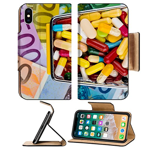 Luxlady Premium Apple Iphone X Flip Pu Leather Wallet Case Image Id  25224245 Tablets Shopping Cart Euro Bills Symbolic Photo For Pharmaceuticals Health Insurance Health Ca