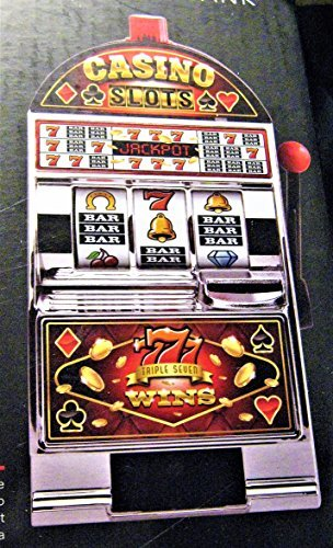 Black Series Electronic Casino Slot Machine Coin Bank