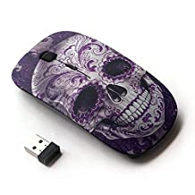 KawaiiMouse [ Optical 2.4G Wireless Mouse ] Rock Roll Skull Bling Floral Death Metal