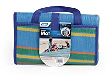 """Camco Handy Mat with Strap, Perfect for Picnics, Beaches, RV and Outings, Weather-Proof and Mold- Mildew Resistant (Blue/Green - 60"""" x 78"""") - 42805"""