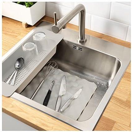 IKEA grundvattnet elegante fregadero Mat en gris 26 x 32 cm