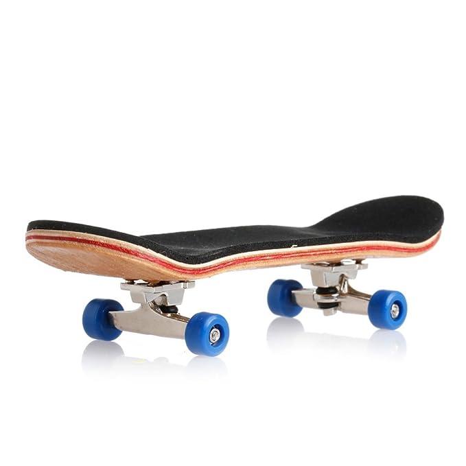 Ogquaton Mini patineta de Madera Toy Deck Truck Finger Board Skate Juegos Deportivos Boy Kid Niños Fans Gift Maple Wood Set 1 Set White Durable y útil