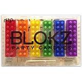 Building Bricks Party Candles - Blokz Set of 6 (assorted colors)