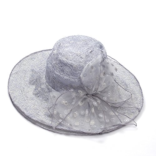 WENJUN Womens Summer Flap Cover Cap Cotton UPF 50+ Sun Shade Hat With Neck Cord Elegant Shade Hat Summer Anti-UV Sunhat Collapsible Beach Hat Summer Hat Sun Protection Cap (Color (Soft Silver Collapsible)