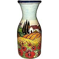 CERAMICHE D'ARTE PARRINI - Italian Ceramic Art Pottery Vase Jar Vessel Vino Vine Hand Painted Made in ITALY Tuscan