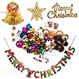 LUTER Assorted Christmas Tree Ornaments DIY Xmas Party Decorations Set Shatterproof Christmas Balls Decor for Home(135Pcs)