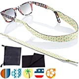 Sunglass and Glasses Sport Strap - 2pk Active Eyewear Retainer with Bonus Items (The Cocos)