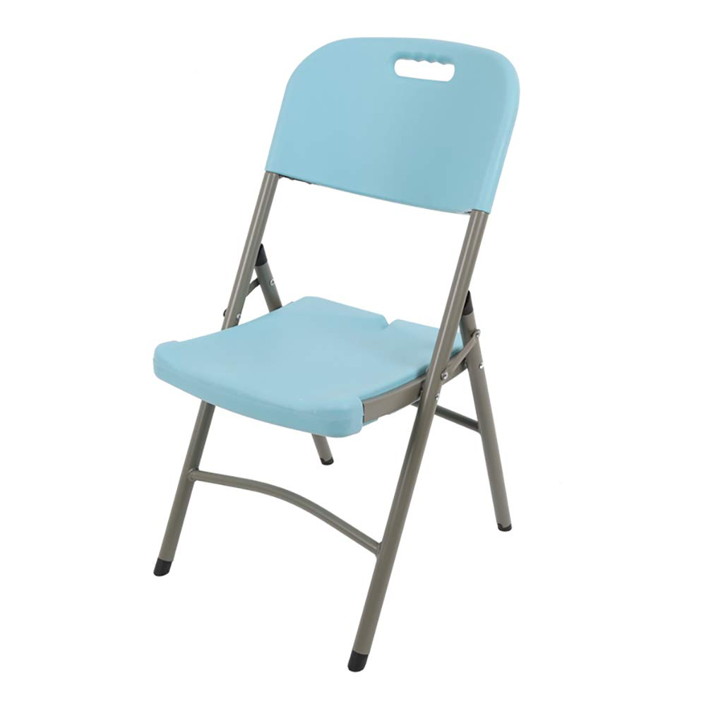 C Folding Chair Home Leisure Chair Portable Meeting Training Computer Chair Back Chair Nine colors. (color   I)