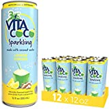 Vita Coco Sparkling Coconut Water, Lemon Ginger - Low Calorie Naturally Hydrating Electrolyte Drink - Smart Alternative to Juice, Soda, and Seltzer - Gluten Free - 12 Ounce (Pack of 12)