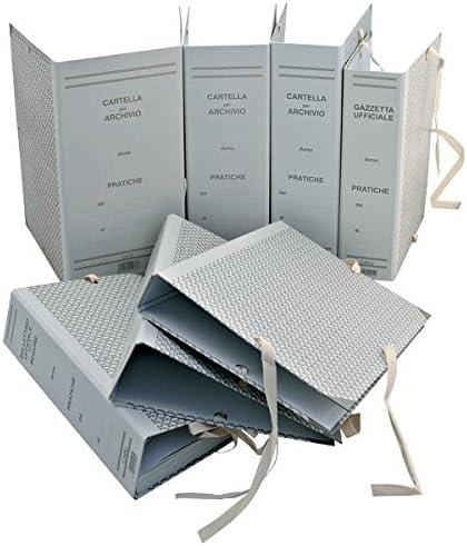 Dorso 10 cm 25 x 35 Resisto RES0201-12 Cartella Archivio con Lacci Rivettati Modello Centro Class