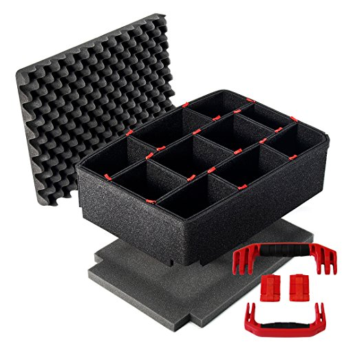 TrekPak Divider System for the Pelican 1510 case. Includes 2 Red handles & 2 Red ()