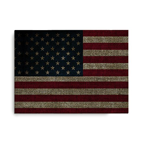 Buckle Down Vintage US Flag Stretch Canvas Print 20