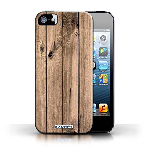 Hülle Case für Apple iPhone 5/5S / Brett Entwurf / Holz/Holzmaserung Muster Collection