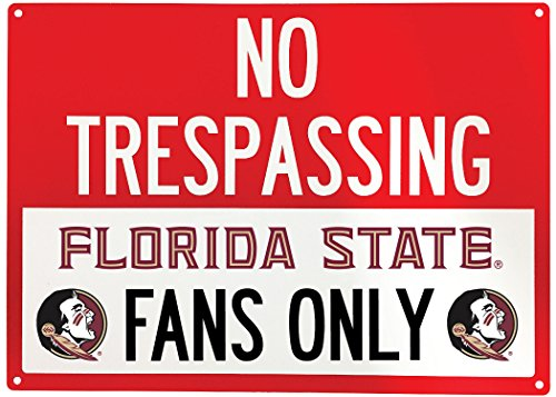 NCAA No Tresspassing-Fans Only Metal Sign-Licenced College Fans Sign (Florida State Seminoles)
