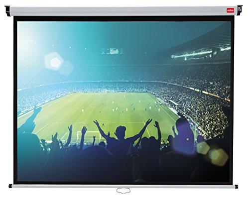 Nobo Projektionsleinwand für Heimkino/Gaming/Streaming 4:3 Bildseitenformat (2400x1813mm)