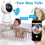Wireless IP camera Baby monitor with camera 1080P HD WiFi Security Surveillance Camera with Night Vision Motion Detection Nanny Cam