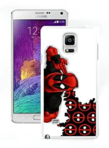 Unique Samsung Galaxy Note 4 Case ,Popular And Durable Designed With Deadpool 3 White Samsung Galaxy Note 4 Cover