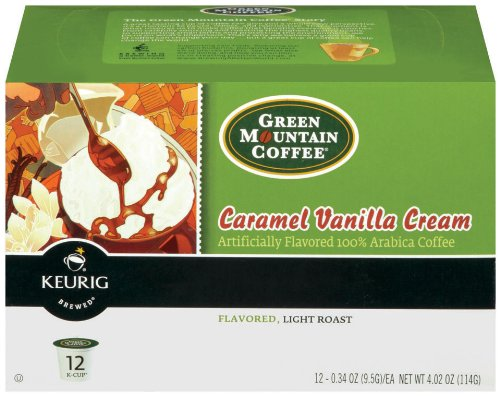 Caramel Brown Swirl - Green Mountain Coffee K-Cup, Caramel Vanilla Cream, 12-Count