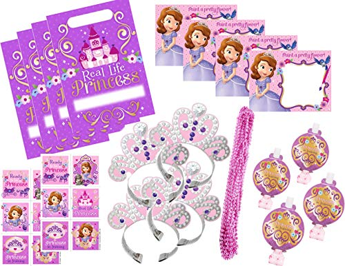 Princess Sofia the First Party Favor/Treat Bundle for 8 Guests - Includes Bags ()