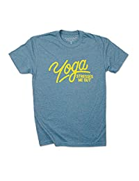 Yoga Stresses Me Out - Funny T Shirts & Racerback Tanks - (shirt)Therapy
