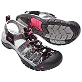 KEEN Women's Newport H2 Sandal, Black/Bright Rose, 8.5 M US