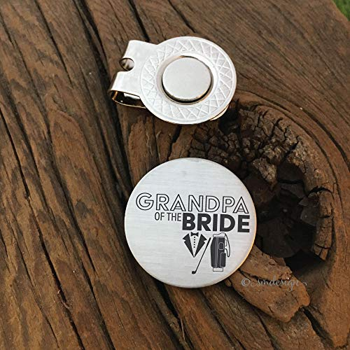Grandpa of the Bride Gift- Golf Disc Gift For Grandpa Wedding Gift Idea for Golfer Golf Ball Marker Bridal Gift Family Grandfather of the Bride