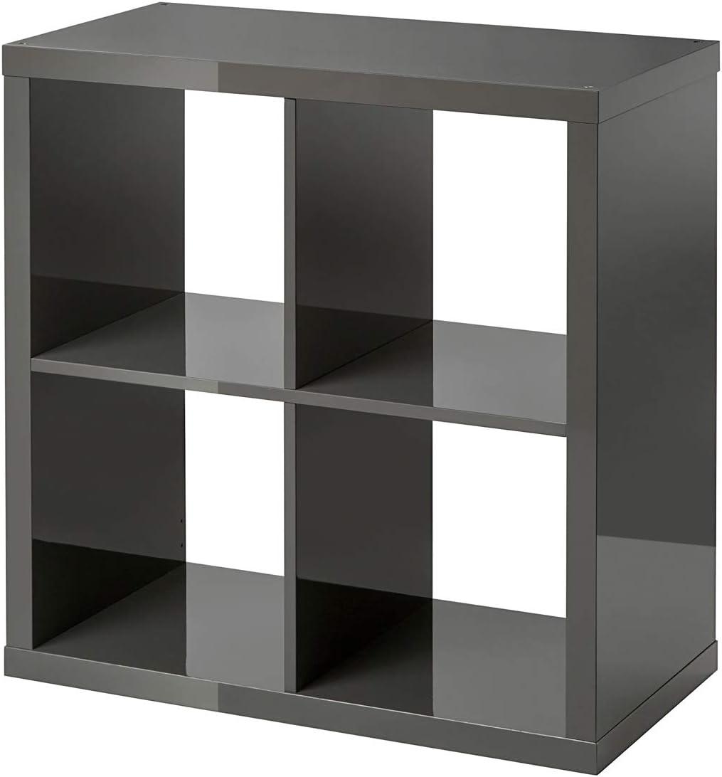 Ikea Kallax - Estantería (77 x 77 cm), Color Gris: Amazon.es ...