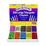Colorations CLRTRI Large Triangular Crayon Classpack (Pack of 200)