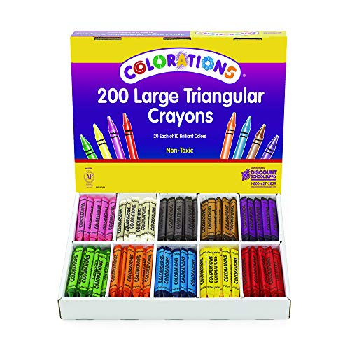 Colorations CLRTRI Large Triangular Crayon Classpack (Pack of 200) by Colorations (Image #2)