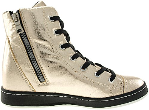 holes Gold Up 7 Maxstar Zipper Shoes 20h Studed Tall Ankle Sneakers vqEqxSF7w