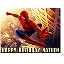 Spiderman edible cake image frosting sheet
