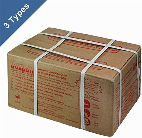 Dexpan Expansive Demolition Grout 44 Lb. Box for Rock Breaking, Concrete Cutting, Excavating. Alternative to Demolition Jack Hammer Breaker, Jackhammer, Concrete Saw, Rock Drill DEXPAN44BOX1