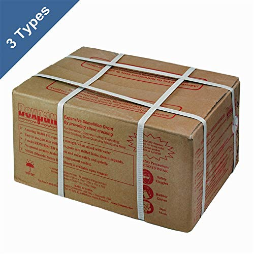 Dexpan Expansive Demolition Grout 44 Lb. Box for Rock Breaking, Concrete Cutting, Excavating. Alternative to Demolition Jack Hammer Breaker, Jackhammer, Concrete Saw, Rock Drill (DEXPAN44BOX2)