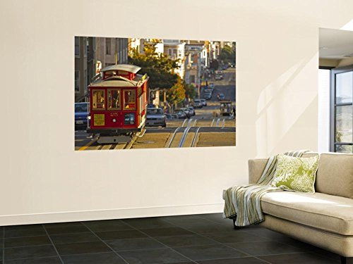 Cable Car on Powell Street in San Francisco, California, USA Wall Mural by Chuck Haney 48 x - Street Powell Francisco San