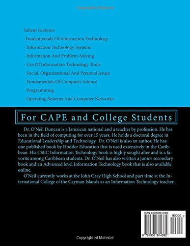 Information technology and computer science for cape examinations information technology and computer science for cape examinations unit 1 and 2 for cape and college students 9781508814382 computer science books fandeluxe Images