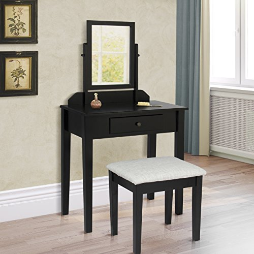 Black Bedroom Vanity Set Bedroom Design Red And Black Bedroom Arrangement Ideas Pictures Young Mans Bedroom Furniture: Best Choice Products Vanity Table Set W/ Stool Bedroom