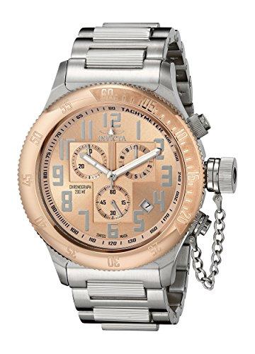 [Invicta Men's 15557 Russian Diver Analog Display Swiss Quartz Silver Watch] (Invicta Russian Diver Chronograph)