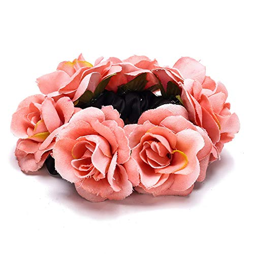 Pink Roses Hair Scrunchie by The Sleepy Cottage