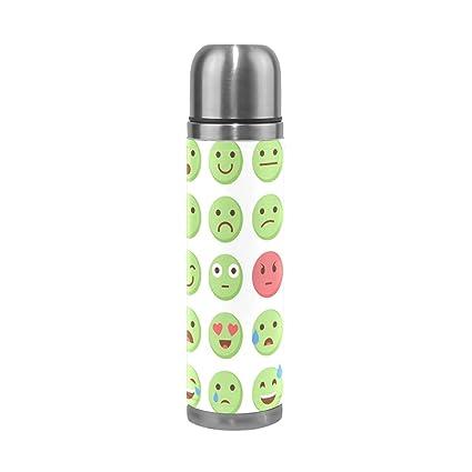 Amazon.com: jstel Emoticonos Emoji Set Botella de agua ...