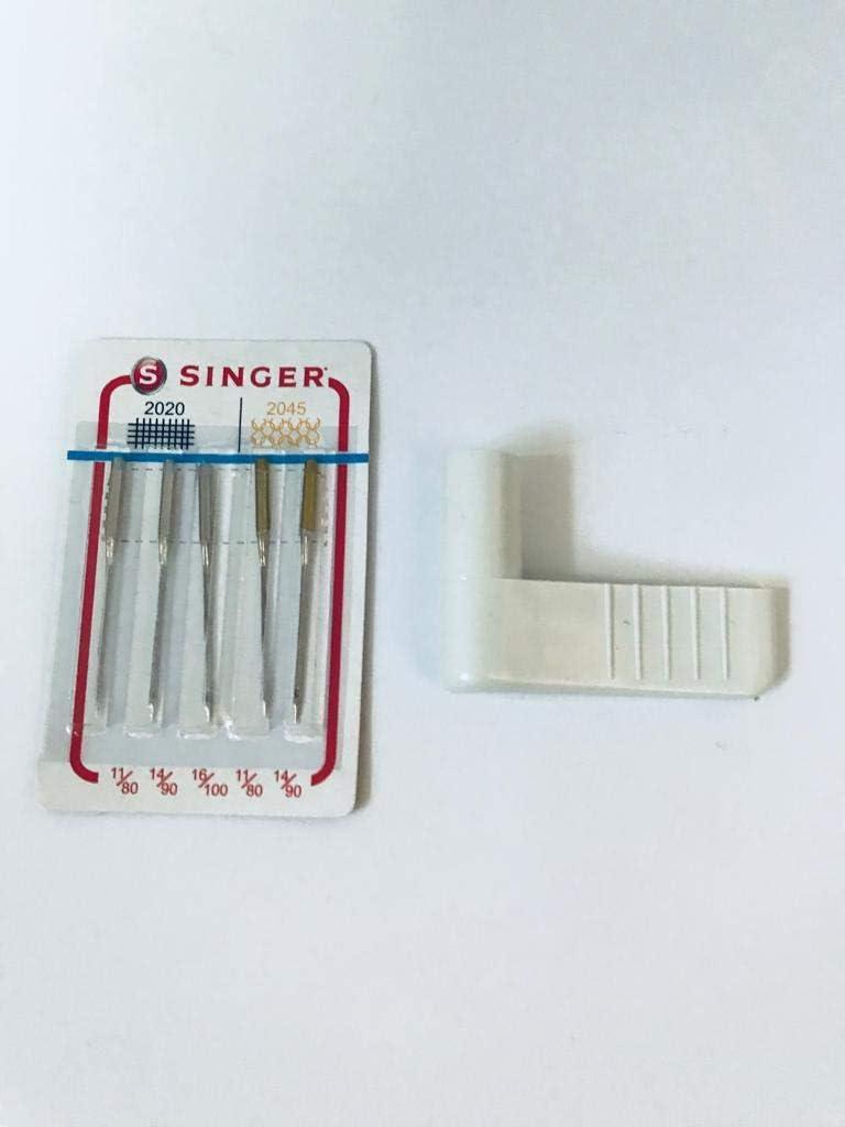 Nähmaschinenzubehör24 Retroceso Botón/Retroceso Palanca + 5 Singer Máquina de Coser para Agujas de Coser Coser Singer Mercury 8280, 8280l: Amazon.es: Juguetes y juegos