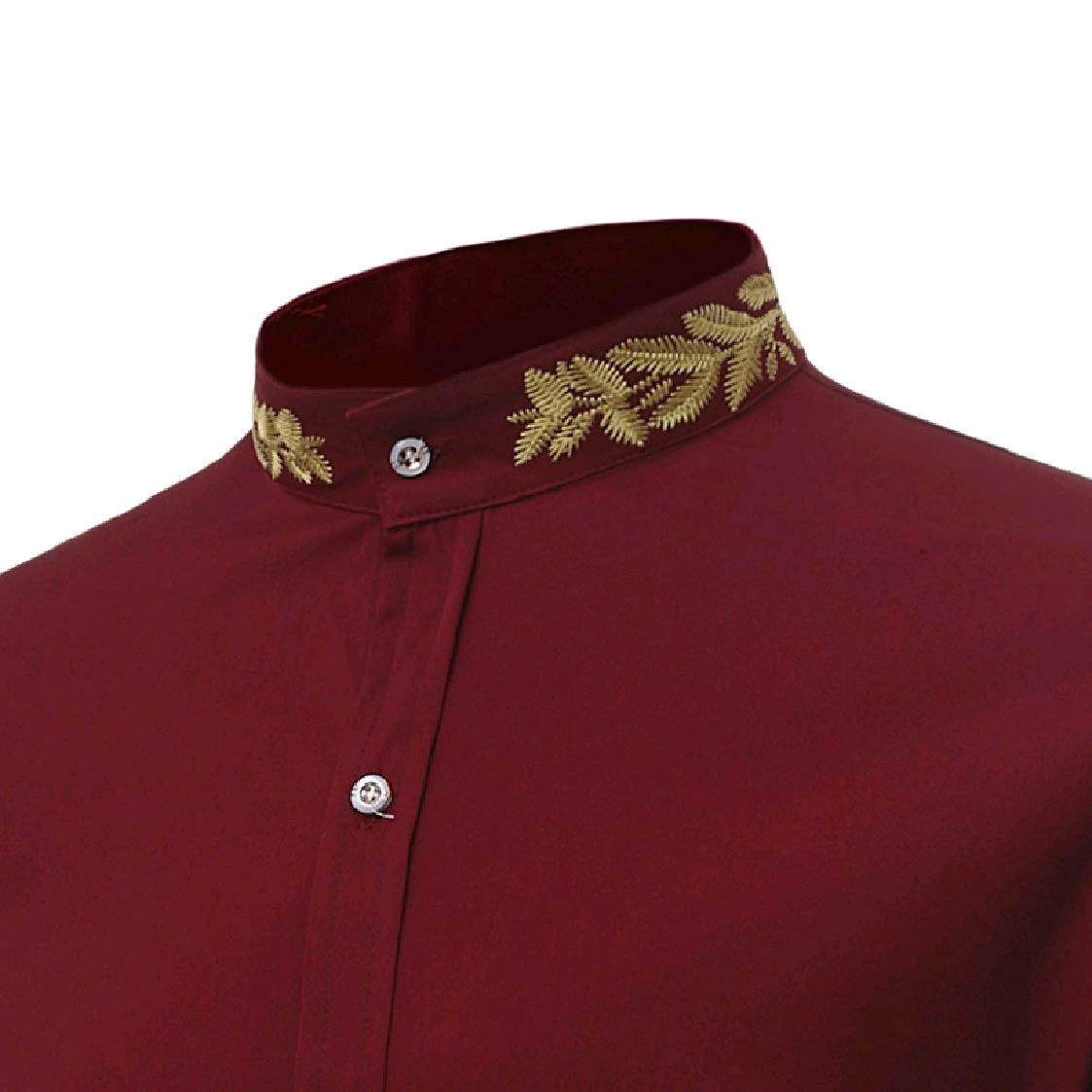 DressU Mens Oversize Silm Business Embroidery Delicate Polo Shirt