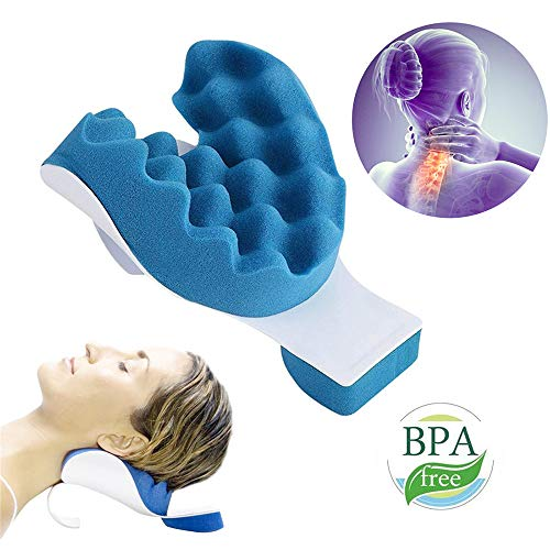 LiuYX Cervical Pillow, Neck and Shoulder Relaxer Chiropractic Pillow, Neck Massage Traction Device for Pain Relief and Cervical Spine Alignment