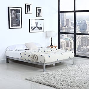 Amazon Com Modern 8 Quot Low Metal Platform Bed Frame
