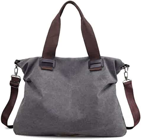 6dda36e991471 Women s Canvas Shoulder Bags Crossbody Tote Purse Work Travel Weekender Bag